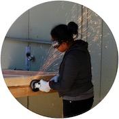 girl engineer circle highlight photo